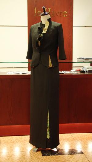 3piece黒留袖ドレス&バッグ
