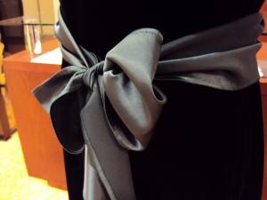 ブラックベルベットロングドレス