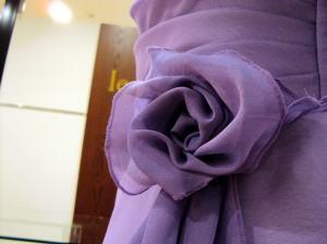 ウエディングドレスを、重ねジョーゼットフレアドレスに可愛くリメイク