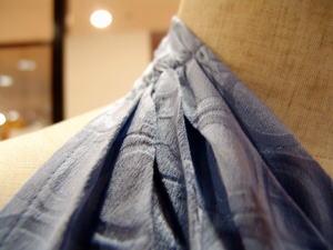 ホルターネックビスチェ&スカーフ衿