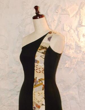 Kirikae切替え黒留袖ドレス