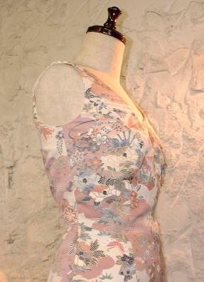 小紋のマーメイドドレス