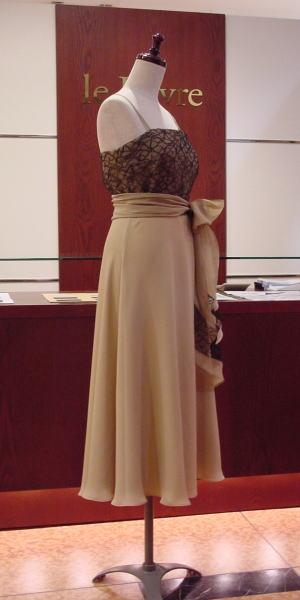 シルクジョーゼットドレス
