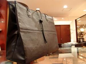 ダブルレザーコートからトートバッグを創る