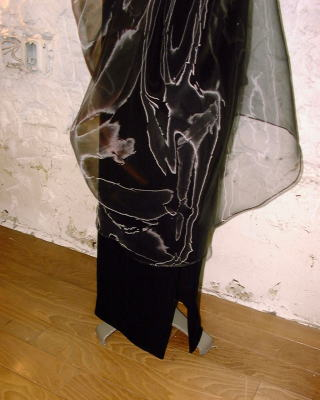 ベルベットサテンドレス