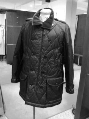 バーバリーのキルティングコートを綺麗サイズダウン!