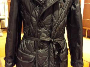バーバリーのキルティングコートを綺麗サイズダウン