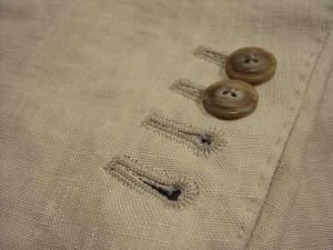 ジャケットの袖にカッコイイ本切羽を作る!