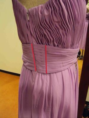 実行不可能!肩掛けロングドレスの身幅と着丈