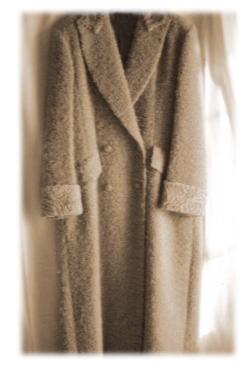 ダブルコートを、素敵徹底リメイク→ロングスタンドカラーコート