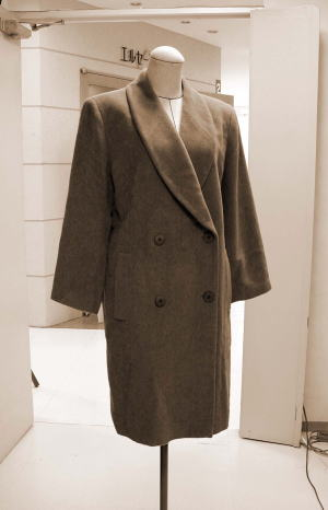 ヘチマカラーコートを、美細身ショールシングルコートにリメイクする!