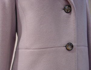 ダブルロングコートを、美しいシングルコートにリメイクする!